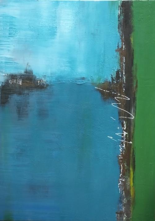Am Meer, abstrakte Malerei