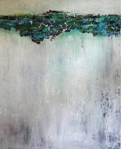 Am Riff, abstrakte Malerei