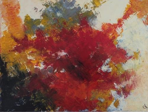 Blüte, abstrakte Malerei