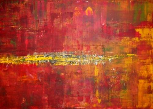 Bunt II, abstrakte Malerei