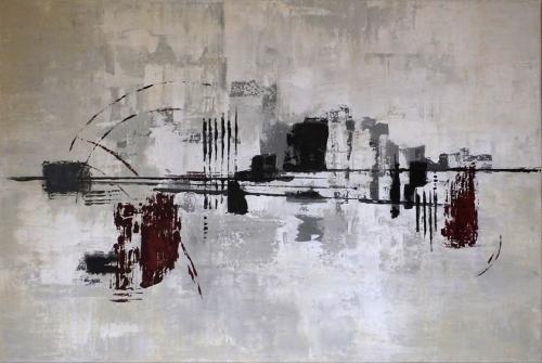 Farbenfelder II, abstrakte Malerei
