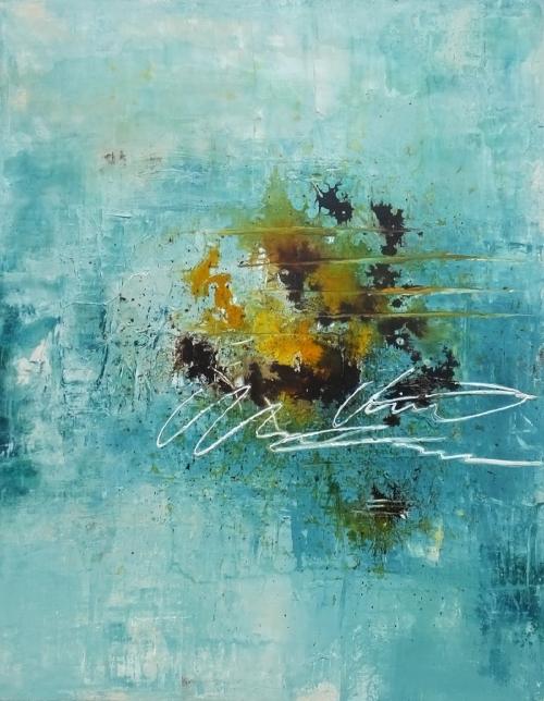 Frühling, abstrakte Malerei