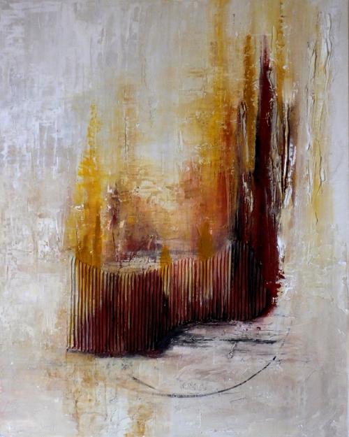 Großstadt, abstrakte Malerei