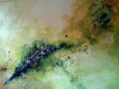 Leben, abstrakte Malerei