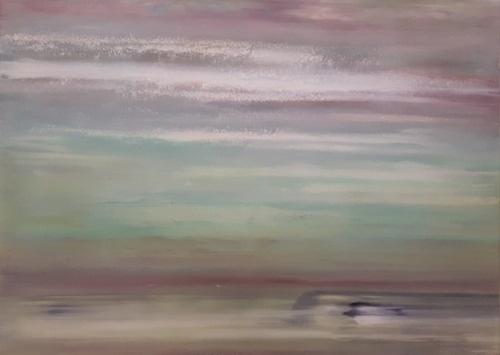 Morgen, abstrakte Malerei
