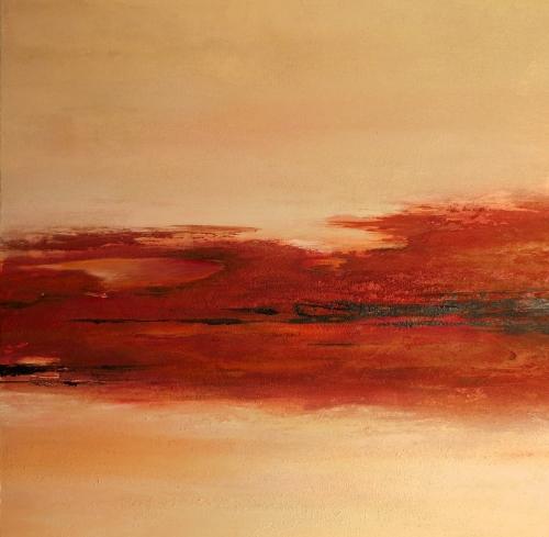 Namibia II, abstrakte Malerei