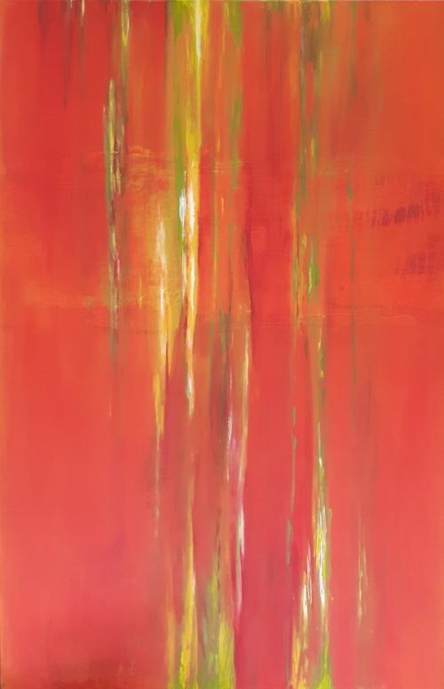 Orange IV, abstrakte Malerei