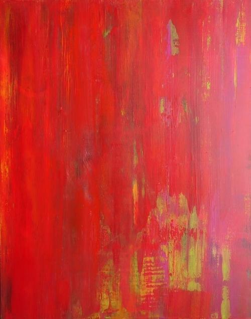 Rot 2, abstrakte Malerei