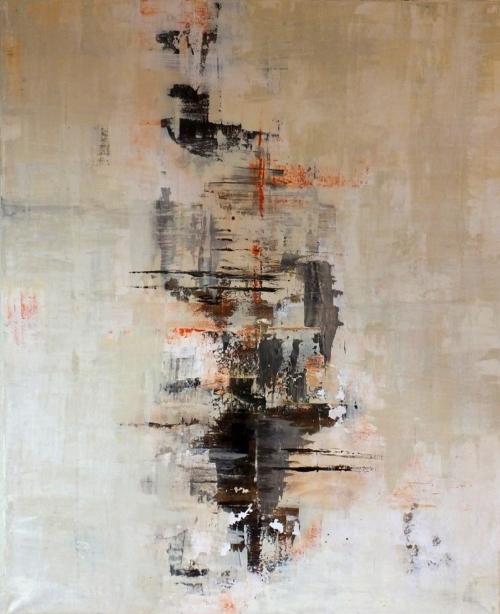 Spiegelung, abstrakte Malerei