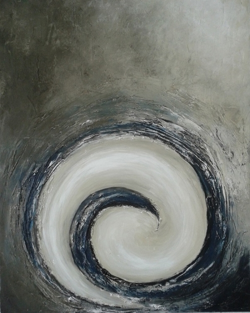Spirale, abstrakte Malerei, verkauft