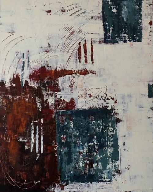 Türkis, abstrakte Malerei
