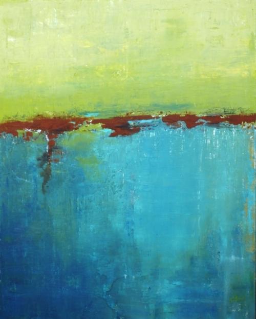 The Reef, abstrakte Malerei, verkauft