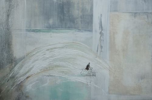 Welle, abstrakte Malerei