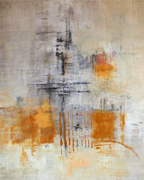 Orange II, abstrakte Malerei