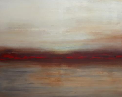 Abendstimmung, abstrakte Malerei