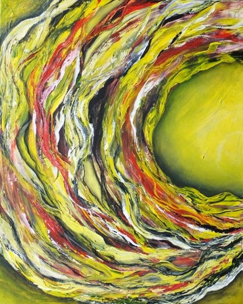 Bänder II, abstrakte Malerei