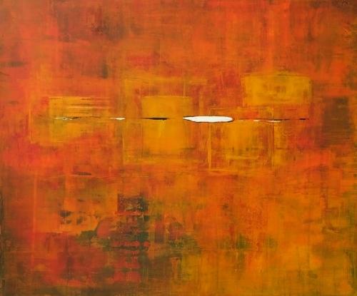 Bunt IV, abstrakte Malerei