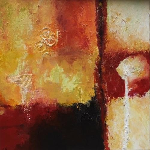 Farbenspiel I, abstrakte Malerei