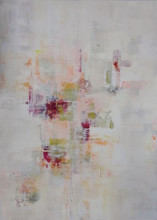 Frühlingsfarben, abstrakte Malerei