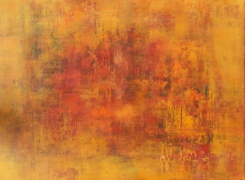 Herbst, abstrakte Malerei