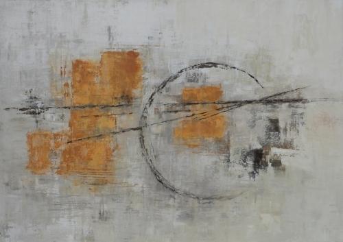 Orange III, abstrakte Malerei