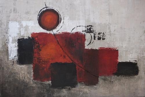 Quadrate, abstrakte Malerei
