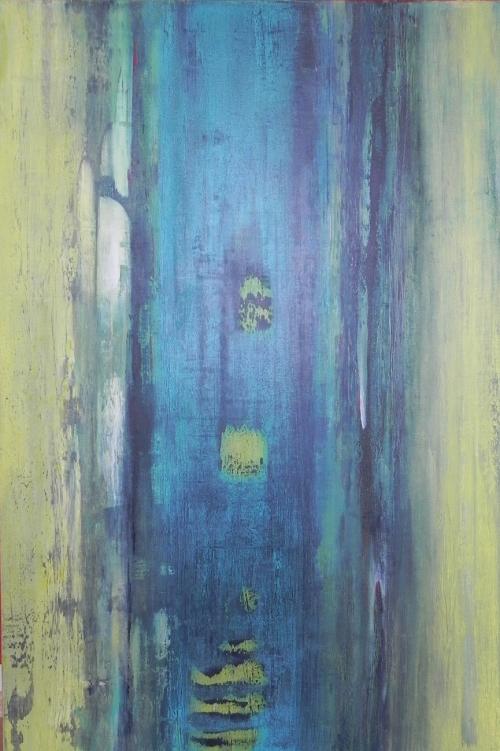 Schiff, abstrakte Malerei