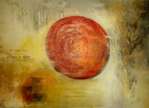 Sonne, abstrakte Malerei