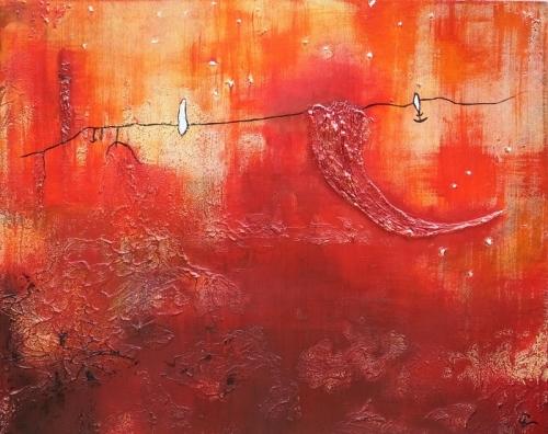 Sterne, abstrakte Malerei