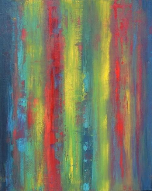 Streifen 2, abstrakte Malerei