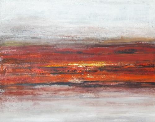 Sunset in Africa, abstrakte Malerei