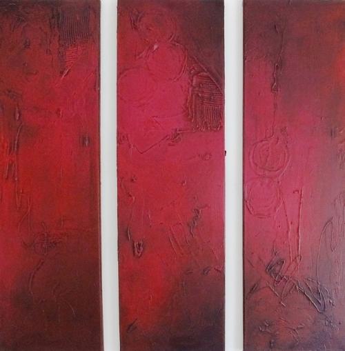 Triptychon, abstrakte Malerei, verkauft