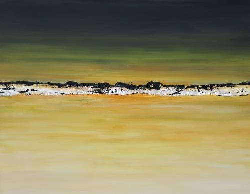 White desert, abstrakte Malerei
