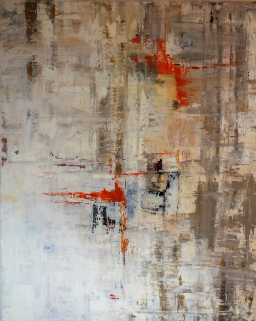 Orange, abstrakte Malerei