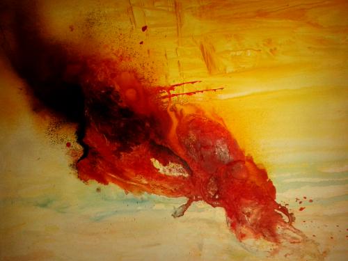 Rot, abstrakte Malerei