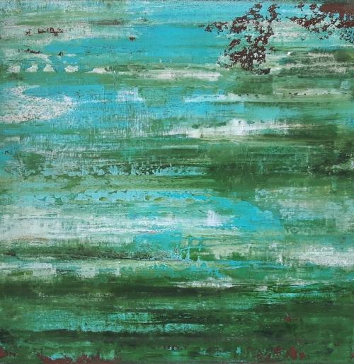 Seeblick, abstrakte Malerei