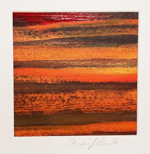 Afrika Trilogie 1, abstrakte Malerei