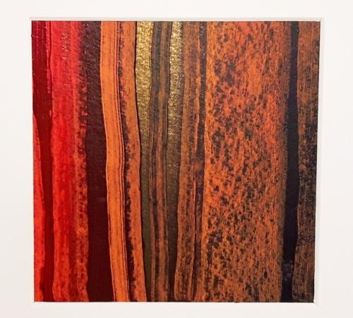 Afrika Trilogie 2, abstrakte Malerei