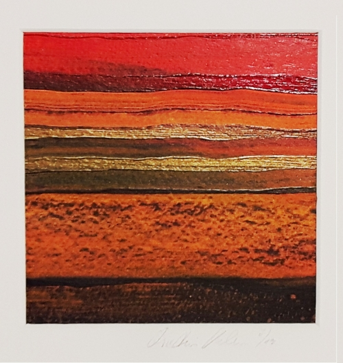 Afrika Trilogie 3, abstrakte Malerei