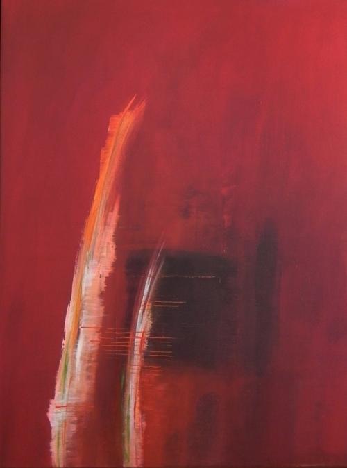 Federn 2, abstrakte Malerei