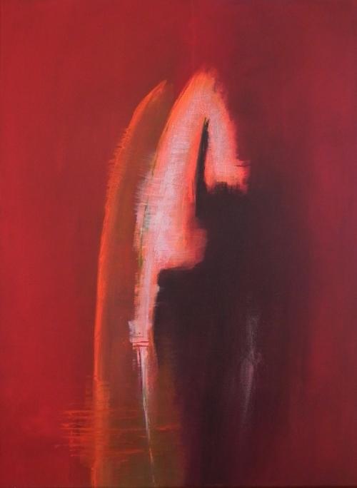 Federn, abstrakte Malerei