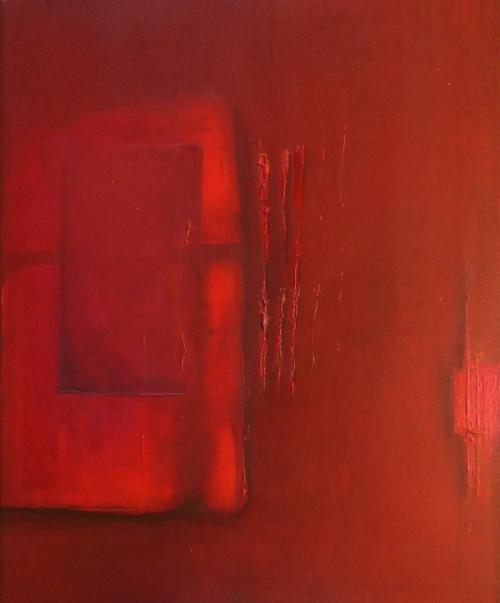 Fenster, abstrakte Malerei