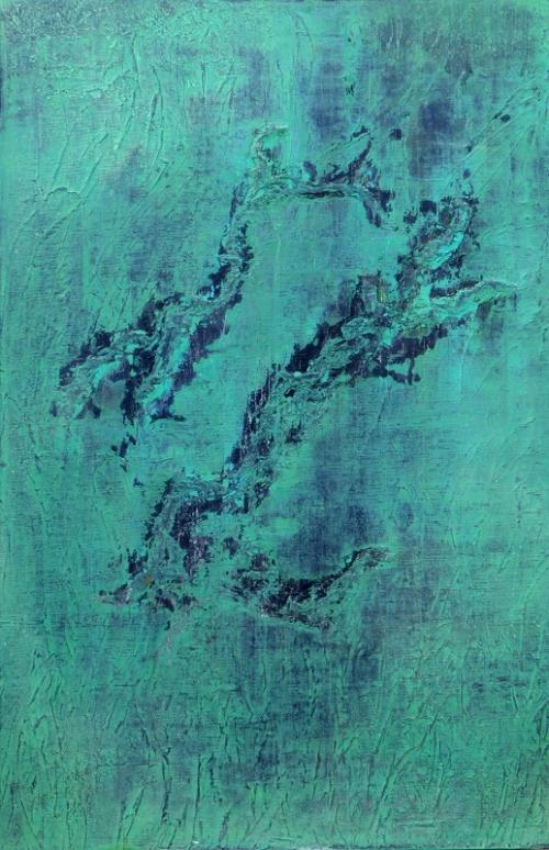 Frühlingstanz, abstrakte Malerei