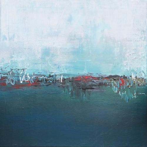 Hafen, abstrakte Malerei