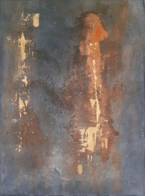 Rost II, abstrakte Malerei