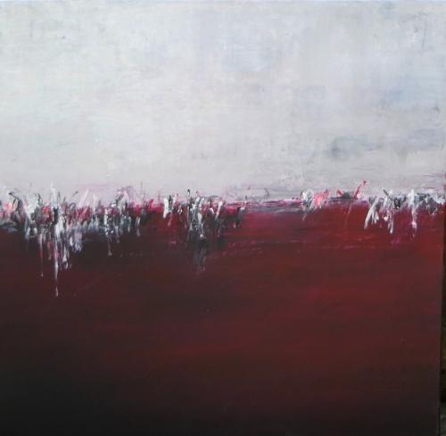 Ruhe, abstrakte Malerei