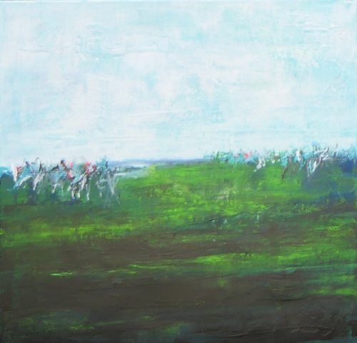 Sommer, abstrakte Malerei