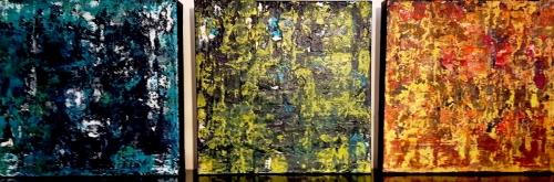 Trilogie, abstrakte Malerei